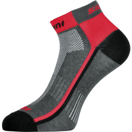 Cyklistické ponožky Silvini Plima UA622 charcoal-red