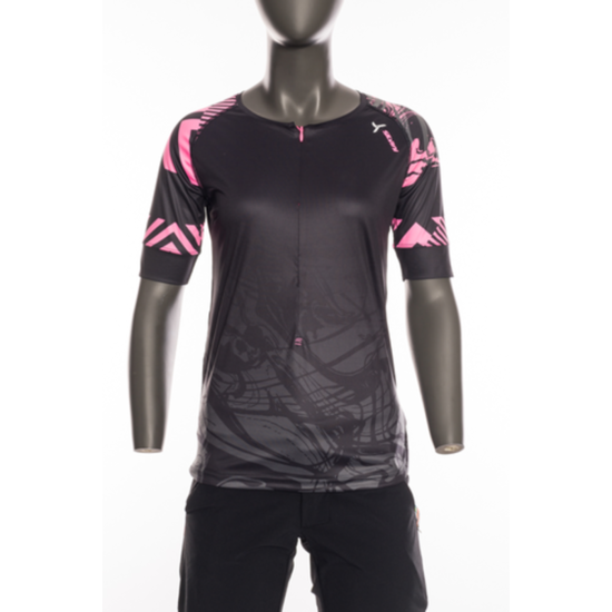 Dámský MTB dres Silvini Stabina WD1432 black-pink