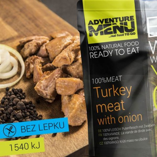 Adventure Menu Krůtí maso na cibulce