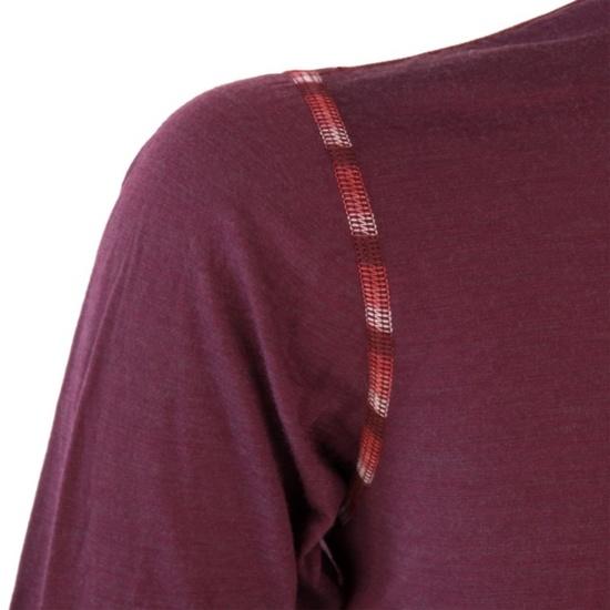 Dámské triko Sensor MERINO AIR tm. vínová 18200006