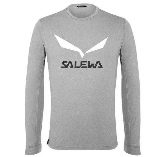 Triko Salewa SOLIDLOGO DRY M L/S TEE 27340-0624