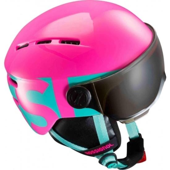 Lyžařská helma Rossignol Visor Jr Girl-pink RKGH501