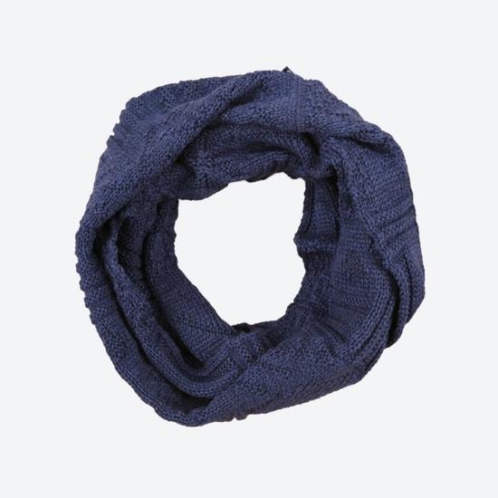Pletený nákrčník Kama S20 108 tmavě modrá