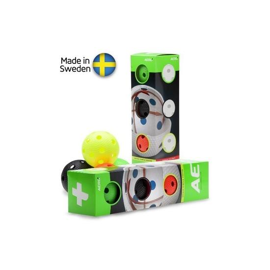 Sada florbalových míčků Salming Aero Plus Ball 4-pack, colour mix