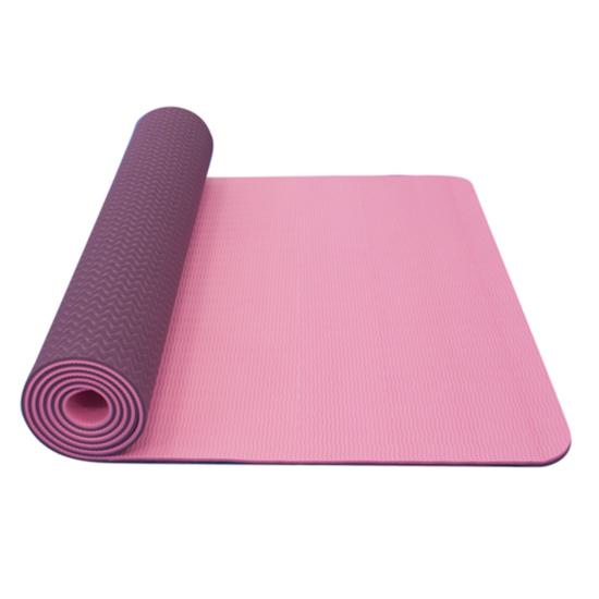 Podložka na jogu YATE yoga mat dvouvrstvá/růžová/fialová/materiál TPE