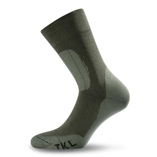 Ponožky Lasting TKL barva-kombinace: zelená/šedá