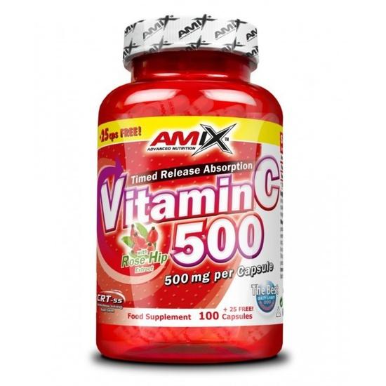 Amix Vitamin C 500mg, 125 kapslí