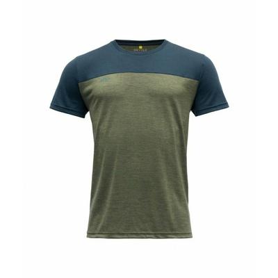Pánské vlněné tričko s krátkým rukávem Devold Norang GO 180 213 B 404A zelená, Devold