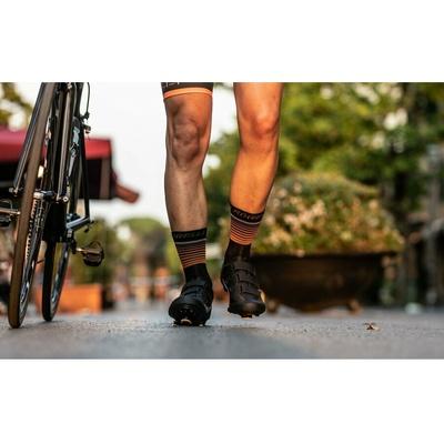 Funkční ponožky Rogelli HERO nejen pro cyklisty, černo-oranžové 007.905, Rogelli