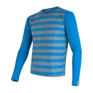 Pánské triko Sensor Merino Wool Active modrá pruhy 16200091