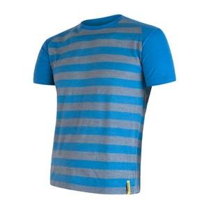 Pánské triko Sensor Merino Wool Active modrá pruhy 16200088