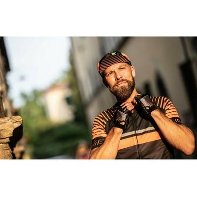 Cyklistická kšiltovka pod helmu Rogelli HERO, černo-oranžová 009.974, Rogelli