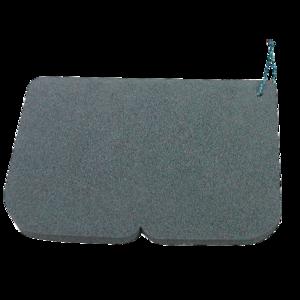 Sedátko Alu EVA 245 x 190 x 14 mm černé, Yate