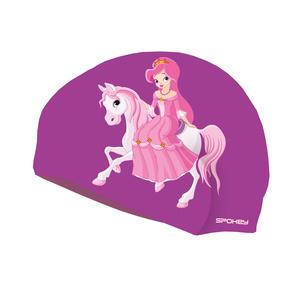 Dětská plavecká čepice Spokey STYLO Junior fialová princezna, Spokey