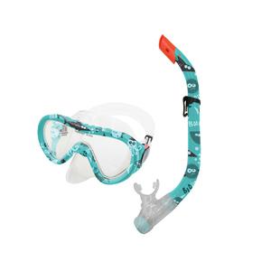 Sada brýle+šnorchl TAHITI JUNIOR zelený vodní svět, Spokey
