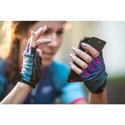 Dámské cyklistické rukavice Rogelli IMPRESS, modro-růžové 010.600, Rogelli