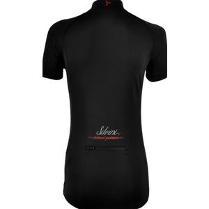 Dámský cyklistický dres Silvini GRUSO WD1026  black-red, Silvini
