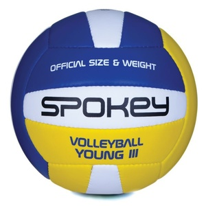 Volejbalový míč Spokey YOUNG III modro-žlutý vel.4, Spokey