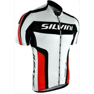 Pánský cyklistický dres Silvini LEMME MD603 white-red, Silvini