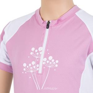 Dětský cyklo dres Sensor CYKLO ENTRY růžová/bílá 15100103, Sensor