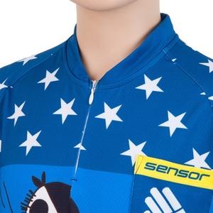 Dětský cyklo dres Sensor CYKLO PIRATE modrý 17100103, Sensor