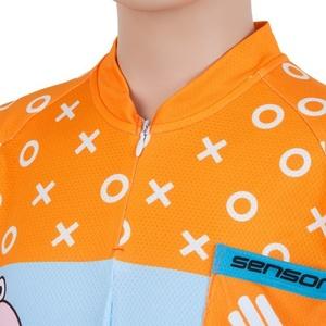 Dětský cyklo dres Sensor ZUPAMAN modrá/oranžová 17100105, Sensor