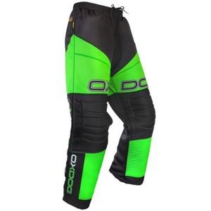 Brankářské kalhoty OXDOG VAPOR GOALIE PANTS JUNIOR black/green, Oxdog