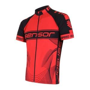 Pánský cyklo dres Sensor CYKLO TEAM červená/černá 15100086, Sensor