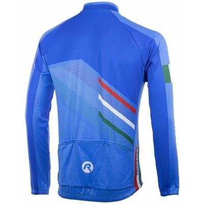 Volnější cyklistický dres Rogelli TEAM 2.0 s dlouhým rukávem,  modrý 001.972, Rogelli