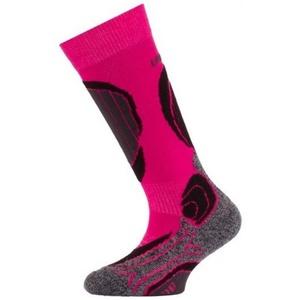 Dětské vlněné lyžařské ponožky Lasting SJB 409 růžové, Lasting