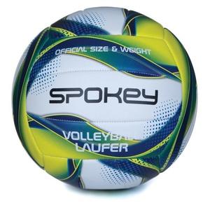 Volejbalový míč Spokey LAUFER bílo-modro-žlutý rozm.5, Spokey
