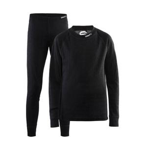 Set CRAFT Nordic Wool JR 1905356-999975 - černá