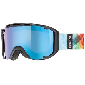 Lyžařské brýle Uvex SNOWSTRIKE PM, black mat double lens/polavision litemirror blue/clear (2226), Uvex