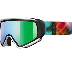 Lyžařské brýle Uvex JAKK TAKE OFF, white mat/litemirror green (1226), Uvex