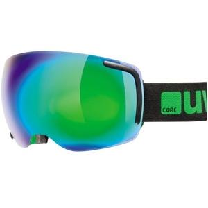 Lyžařské brýle Uvex BIG BIG 40 FM, black-green mat double lens/full mirror green (2726), Uvex