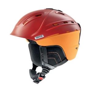 Lyžařská helma UVEX P2US, blood-orange mat (S566178300*), Uvex