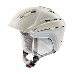 Lyžařská helma UVEX P2US WL, creme/grey mat (S566178150*), Uvex