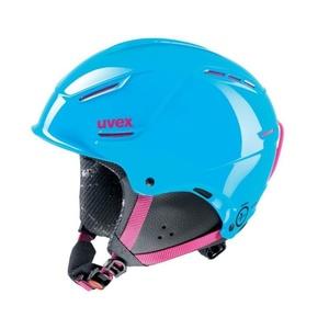 Lyžařská helma UVEX P1US JUNIOR, cyan-pink (S566180490*), Uvex