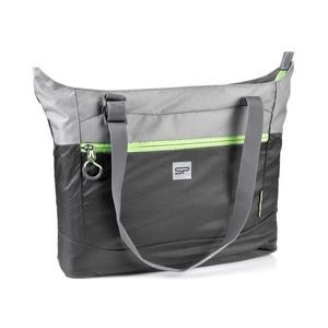 Skládací taška Spokey HIDDEN LAKE šedá,zelený zip, Spokey