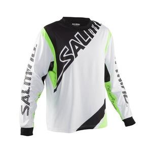 Brankářský dres Salming Phoenix Goalie Jsy SR White/GeckoGreen, Salming