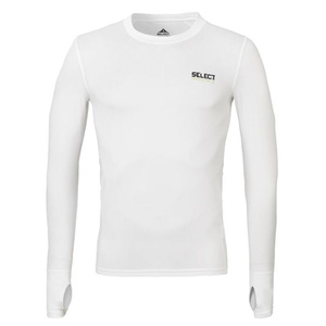 Kompresní triko Select Compression T-shirt L/S 6902 bílá, Select