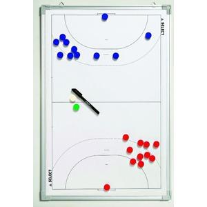 Taktická tabule Select Tactics board alu handball bílá, Select