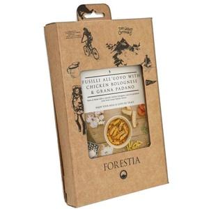Jídlo Forestia Fusili all'uovo s kuřetem v boloňské omáčce s Grana Padano (s ohřívačem), Forestia