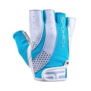 Dámské fitness rukavice Spokey ZOE II bílo-tyrkysové, Spokey