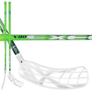 Florbalová hůl V80 2.9 green 98 ROUND X-blade MB, Exel