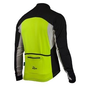 Hřejivý cyklistický dres Rogelli RECCO 2.0 s dlouhým rukávem, reflexní žlutý 001.139., Rogelli