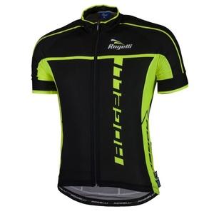 Ultralehký cyklistický dres Rogelli UMBRIA 2.0 s krátkým rukávem, černo-reflexní žlutý 001.247., Rogelli
