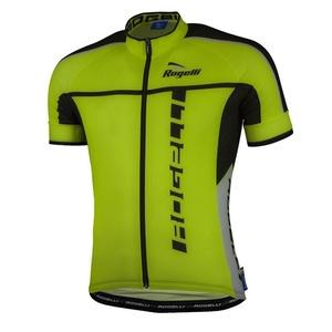 Ultralehký cyklistický dres Rogelli UMBRIA 2.0 s krátkým rukávem, reflexní žlutý 001.248., Rogelli