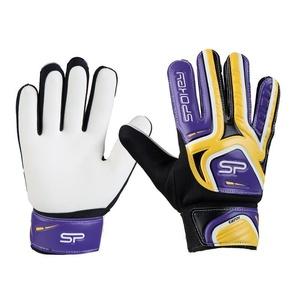 Spokey CATCH II brankářské rukavice žluto-fialové, Spokey