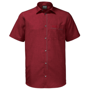 Košile JACK WOLFSKIN El Dorado Shirt Men červená, Jack Wolfskin